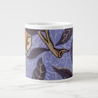 William Morris Blue Fruit Wallpaper Large Coffee Mug