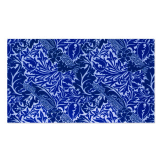 William Morris Blue Leaves Reception Seating Card Double-Sided Standard Business Cards (Pack Of 100)