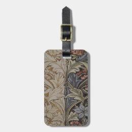 William Morris Bluebell Fabric Botanical Print Bag Tag