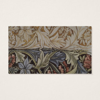 William Morris Bluebell Fabric Botanical Print Business Card