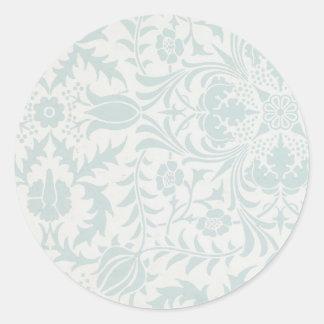 William Morris Borage Ceiling Paper in Blue Classic Round Sticker