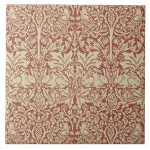 William Morris Brer Rabbit Design Ceramic Tile