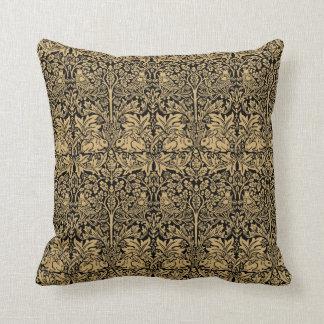 William Morris Brer Rabbit Vintage Pattern Throw Pillow