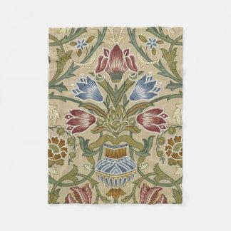 William Morris Brocade Floral Pattern Fleece Blanket