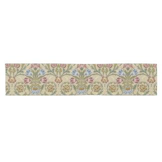 William Morris Brocade Floral Pattern Short Table Runner