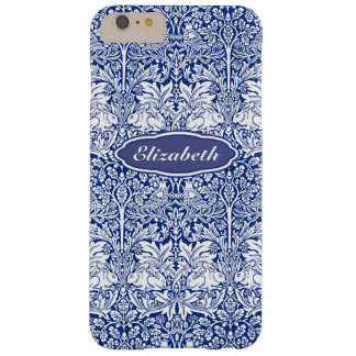 William Morris Brother Rabbit Blue Personalized Barely There iPhone 6 Plus Case
