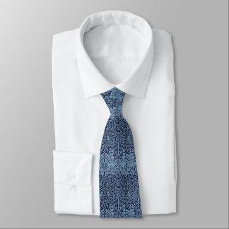 William Morris Brother Rabbit Blue Victorian Era Neck Tie