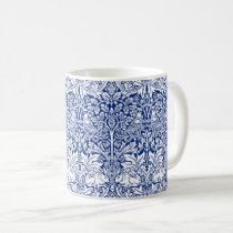 William Morris Brother Rabbit Blue Vintage Pattern Coffee Mug