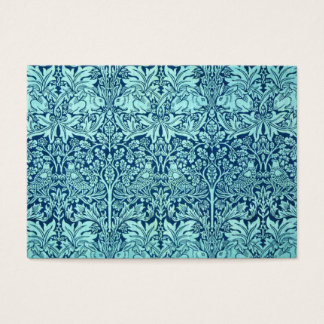William Morris Brother Rabbit Pattern in Blue Business Card