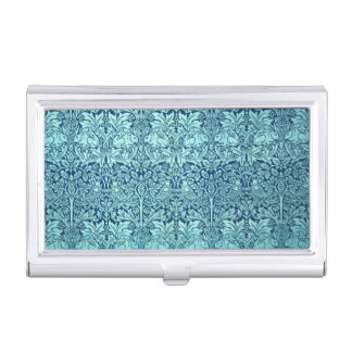 William Morris Brother Rabbit Pattern in Blue Business Card Holder