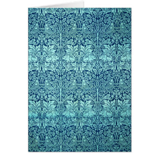 William Morris Brother Rabbit Pattern in Blue Card