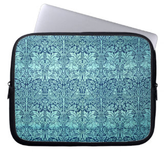 William Morris Brother Rabbit Pattern in Blue Computer Sleeve
