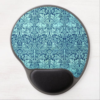William Morris Brother Rabbit Pattern in Blue Gel Mouse Pad