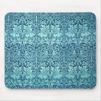 William Morris Brother Rabbit Pattern in Blue Mouse Pad