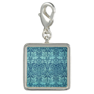 William Morris Brother Rabbit Pattern in Blue Photo Charm