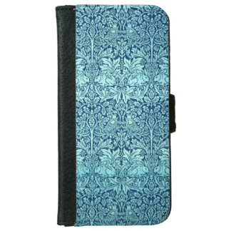 William Morris Brother Rabbit Pattern in Blue Wallet Phone Case For iPhone 6/6s