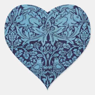 William Morris BrotherRabbit Heart Sticker