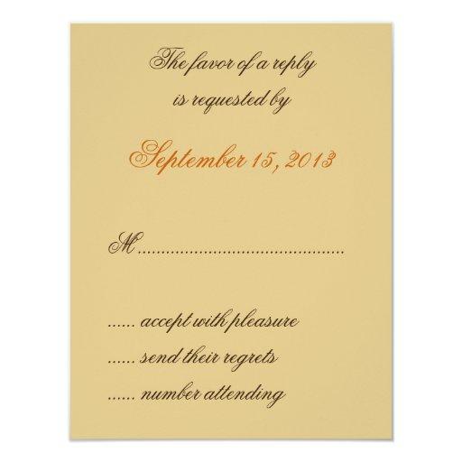 """William Morris Brown deja casar las tarjetas de Invitación 4.25"""" X 5.5"""""""