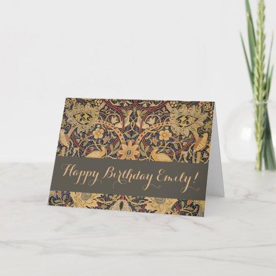 William Morris Bullerswood Custom Happy Birthday Card Zazzle
