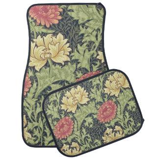 William Morris Chrysanthemum Vintage Floral Art Car Mat