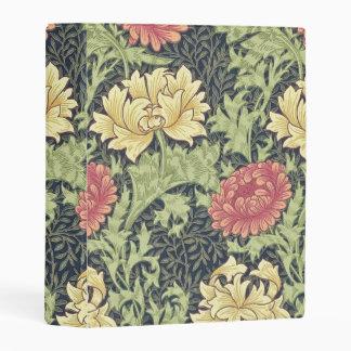 William Morris Chrysanthemum Vintage Floral Art Mini Binder