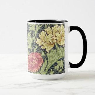 William Morris Chrysanthemum Vintage Floral Art Mug