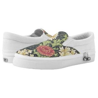 William Morris Chrysanthemum Vintage Floral Art Slip-On Sneakers