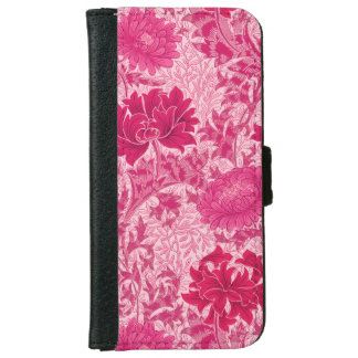 William Morris Chrysanthemums, Fuchsia Pink iPhone 6/6s Wallet Case