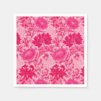 William Morris Chrysanthemums, Fuchsia Pink Napkin