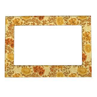 William Morris Chrysanthemums, Mustard Gold Magnetic Photo Frame