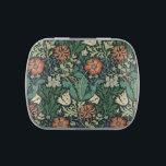 """William Morris Compton Floral Art Nouveau Pattern Candy Tin<br><div class=""""desc"""">William Morris Compton Floral Art Nouveau Pattern. Hand-Painted Floral Design by Garden Of Delights Art Studio.</div>"""