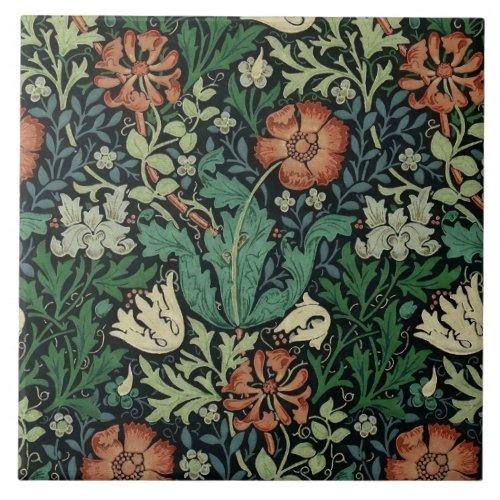 William Morris Compton Floral Art Nouveau Pattern Ceramic Tile