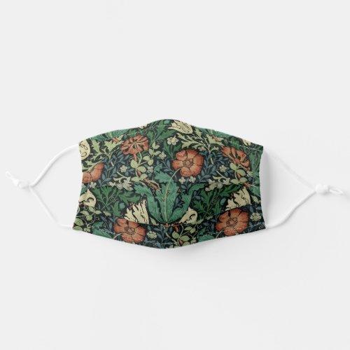 William Morris Compton Floral Art Nouveau Pattern Cloth Face Mask