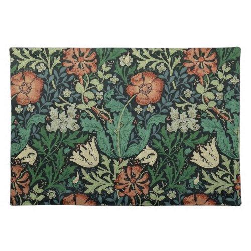 William Morris Compton Floral Art Nouveau Pattern Cloth Placemat