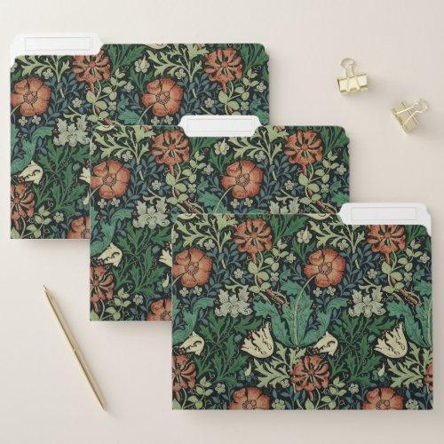 William Morris Compton Floral Art Nouveau Pattern File Folder