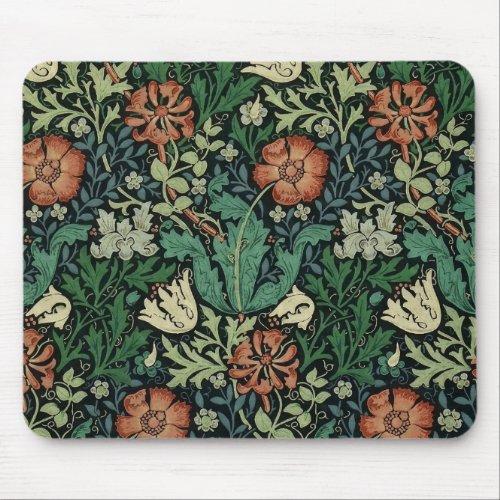 William Morris Compton Floral Art Nouveau Pattern Mouse Pad