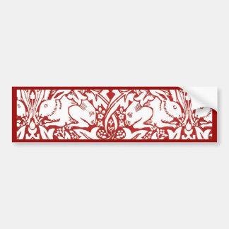 William Morris - conejo de Brer Pegatina Para Auto