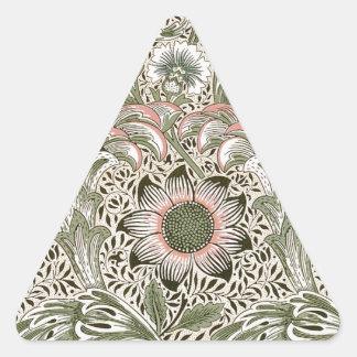 William Morris Corncockle Pegatina Triangular