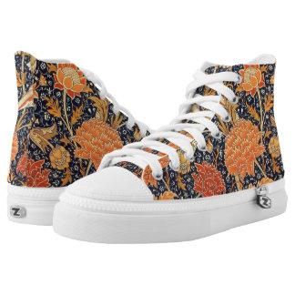 William Morris Cray Floral Art Nouveau Pattern High-Top Sneakers