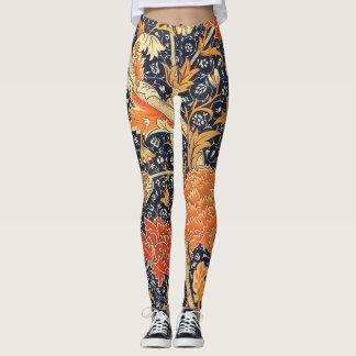 William Morris Cray Floral Art Nouveau Pattern Leggings