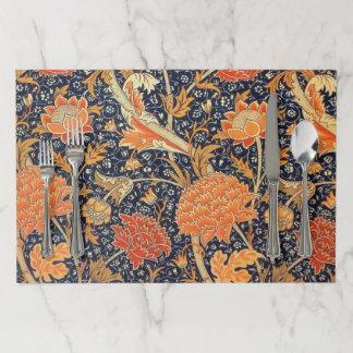 William Morris Cray Floral Art Nouveau Pattern Paper Placemat