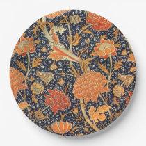 William Morris Cray Floral Art Nouveau Pattern Paper Plate