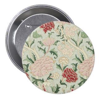 William Morris Cray Floral Pre-Raphaelite Vintage Button