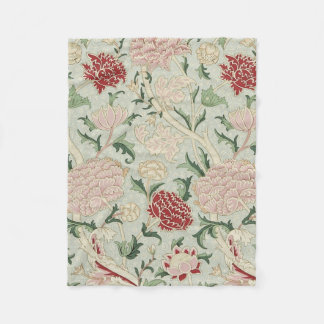 William Morris Cray Floral Pre-Raphaelite Vintage Fleece Blanket