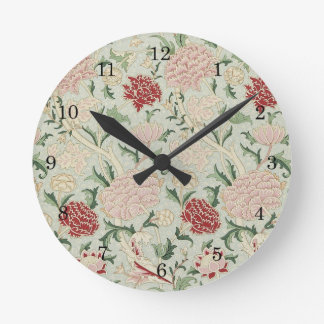 William Morris Cray Floral Pre-Raphaelite Vintage Round Clock
