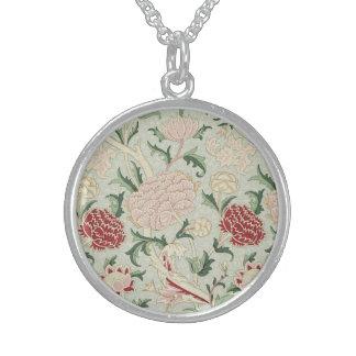 William Morris Cray Floral Pre-Raphaelite Vintage Round Pendant Necklace