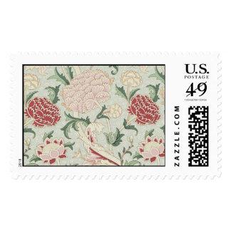 William Morris Cray Floral Pre-Raphaelite Vintage Stamp