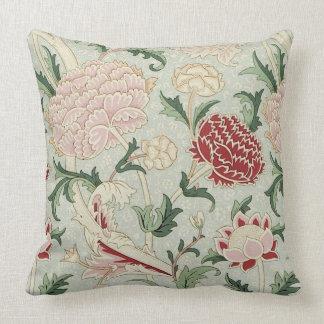 William Morris Cray Floral Pre-Raphaelite Vintage Throw Pillow