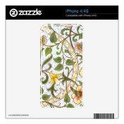 William Morris Daffodil Chintz IPhone 4/4S Skin Iphone 4 Decals