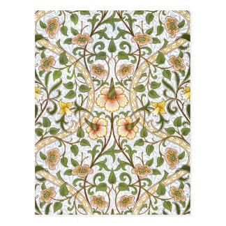 William Morris Daffodil Chintz Pattern Postcard